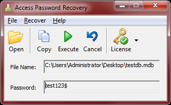 Access Password Recovery - Crack MS Access MDB Password