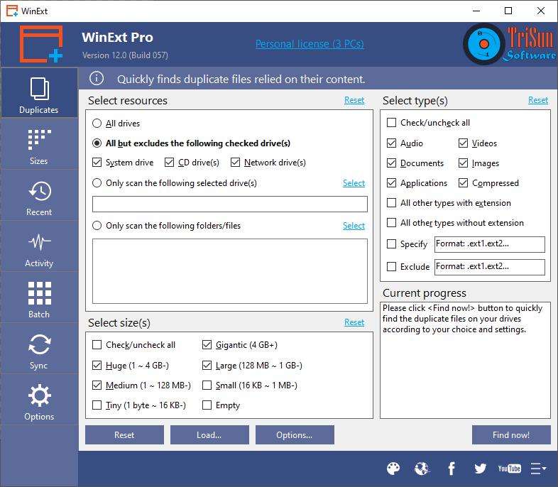 WinExt Pro – 清理重复文件工具[Windows][.99→0]
